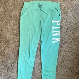 VS Pink Mint Colored Joggers
